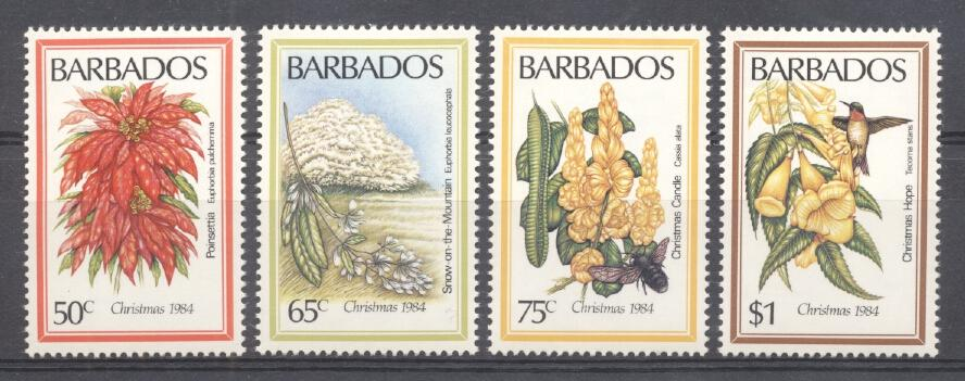 Stamps with Flowers from Barbados (image for product #289056)