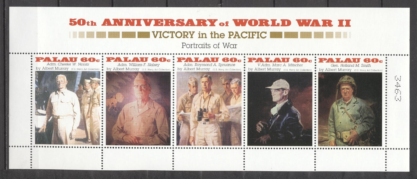 Stamps with World War II, Army from Palau (image for product #289751)