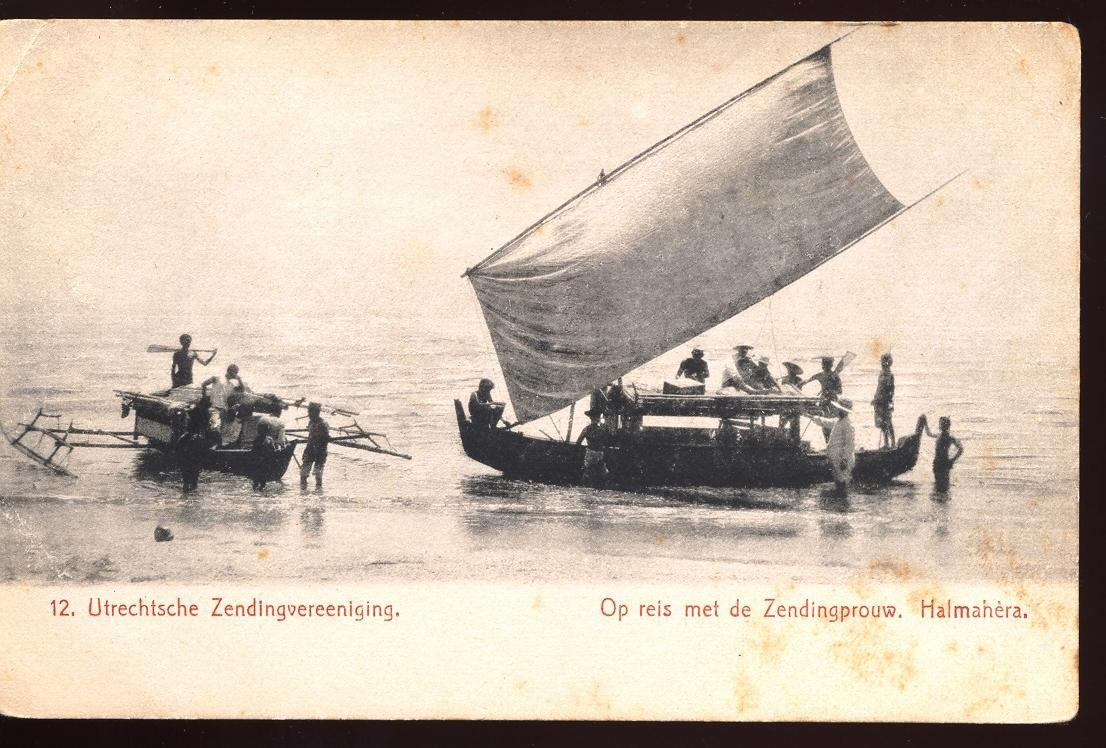 Stamps with Ship, Halmahéra from Netherlands (image for product #950158)