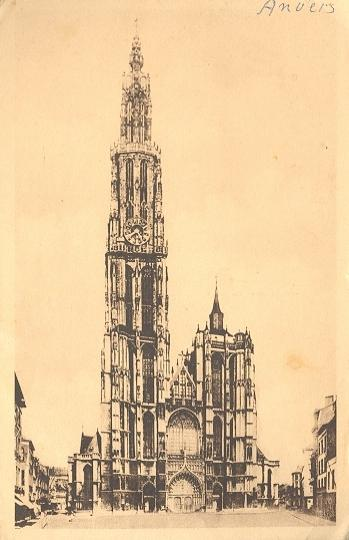 Stamps with Cathedral, Towns (Belgium) from Belgium (image for product #950391)