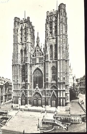 Stamps with Cathedral, Bruxelles from Belgium (image for product #950415)