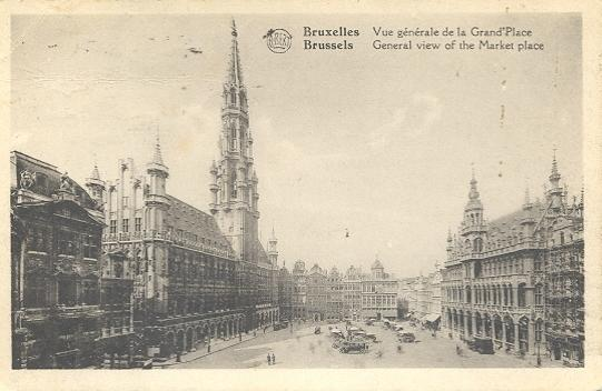 Stamps with Bruxelles, Market from Belgium (image for product #950417)