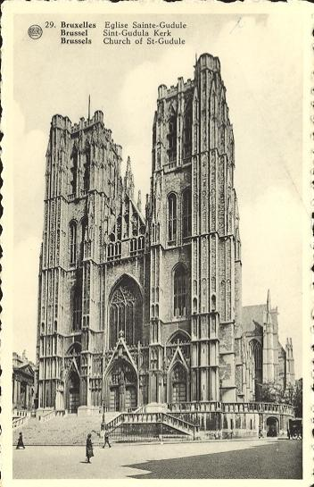 Stamps with Bruxelles, Cathedral from Belgium (image for product #950418)