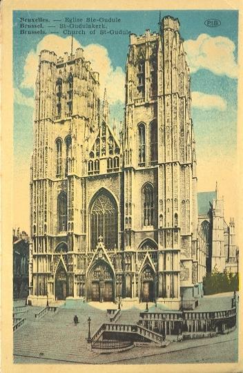 Stamps with Bruxelles, Cathedral from Belgium (image for product #950419)