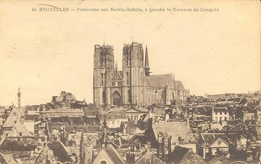 Stamps with Bruxelles, Cathedral from Belgium (image for product #950420)